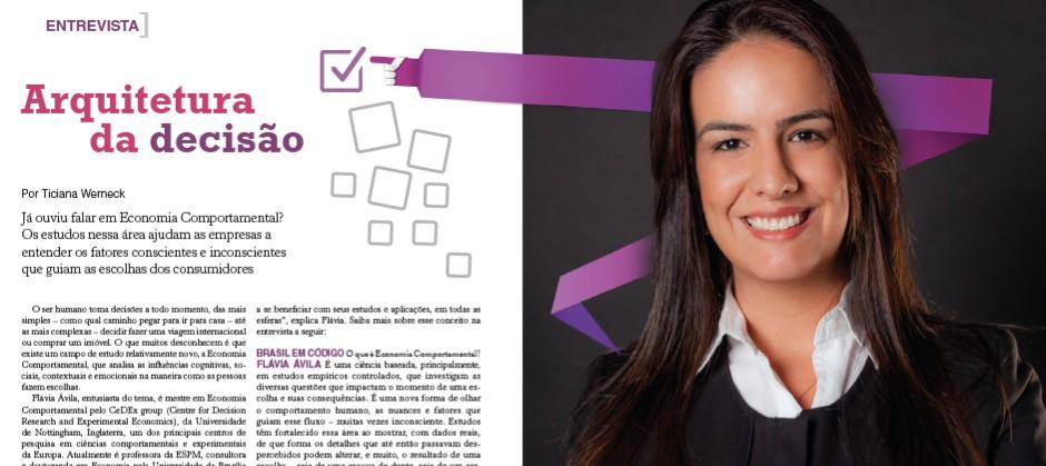Imagem do post: Arquitetura da decisão – Revista Brasil em Código entrevista Flávia Ávila – Jan/Fev 2016