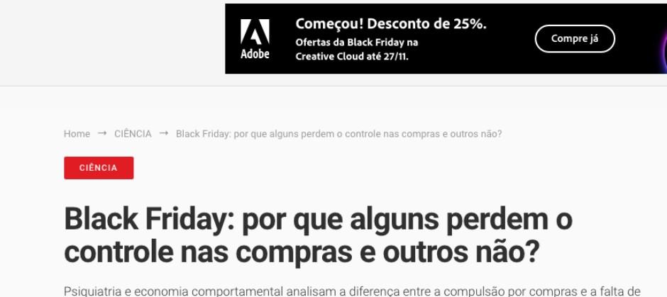 Imagem do post: Black Friday: por que alguns perdem o controle nas compras e outros não?