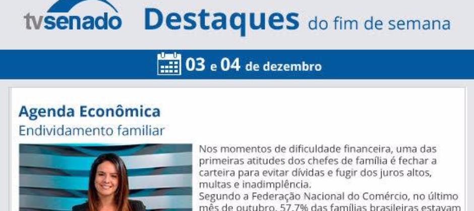 Imagem do post: Flavia Ávila fala sobre Endividamento Familiar no progama Agenda Econômica da TV Senado