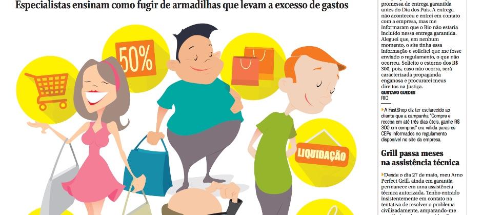 Imagem do post: Matéria do O Globo sobre consumo e endividamento