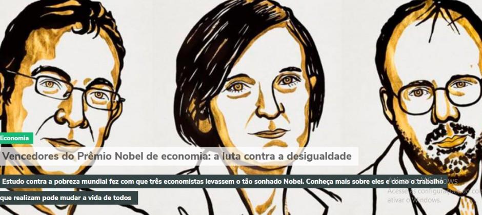 Imagem do post: Vencedores do Prêmio Nobel de economia: a luta contra a desigualdade